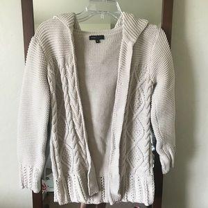 Hooded Chunky Sweater Cardigan